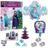 バースデーパーティーセット:Ya Otta プルストリング エルサとフローズン ピニャータ アナと雪の女王のパーティー用品、記念品、子供の誕生日パーティーゲームのeブック付き