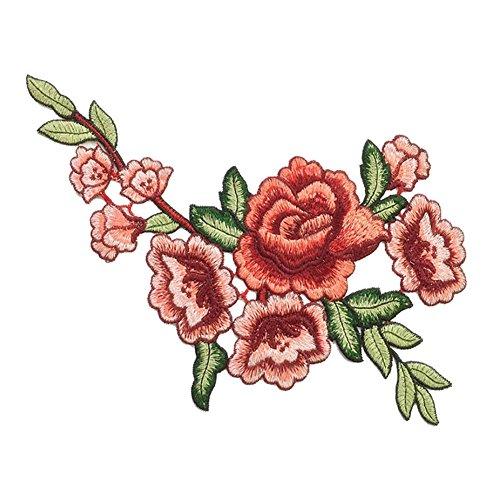 (ステキ ライフ)Suteki Life DIY 手芸用品 アップリケ 立体刺繍 花 デザイン 絵柄 チャイナドレス 衣類アクセサリー 美しい 高級感 デザイン 刺繍パッチ  ソーイング用
