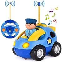 [リバティインポート]Liberty Imports Cartoon R/C Police Car Radio Control Toy for Toddlers by 6601 [並行輸入品]