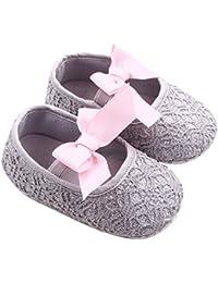 GOTD Glitter Baby Shoes Sneaker Anti-slip Soft Sole Toddler Prewalker (US 4, 12~18 Month , Gray ) by Goodtrade8