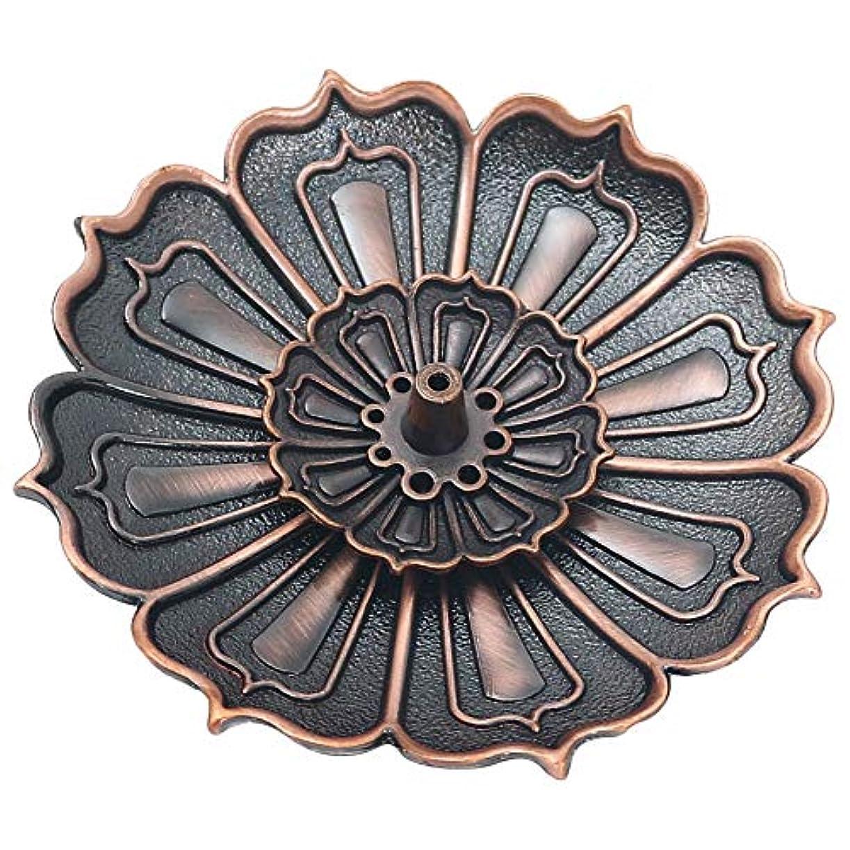 区別する特徴メーターハス香炉 香立て 香皿 線香立て 合金アロマ 多機能置物 インセンスホルダー