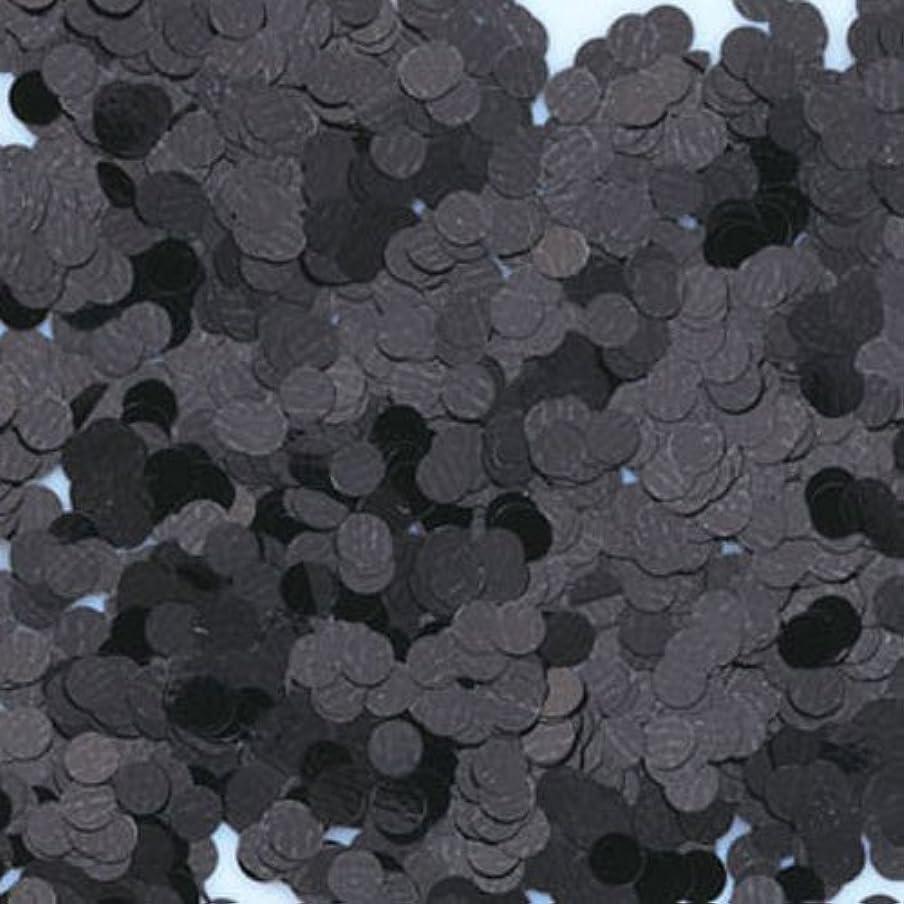 スラム街重なる死の顎ピカエース ネイル用パウダー 丸カラー 1.5mm #412 ブラック 0.5g