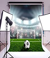 5X7FT Laeacco Vinyl Thin Backdrop Photography Background The Football Field Green Lawn Backdrops Photo Studio Props 1.5x2.2M [並行輸入品]