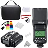 Fomito Godox TT685C E-TTLII 2.4GHz Wireless Master/External AutoFlash Speedlite &X1T-C Transmitter Trigger HSS for Canon EOS Rebel T6i T6S T5 6D 70D 7D 5DIII 5DS 1DX Cameras, 580EXII 600EX-RT Flashes