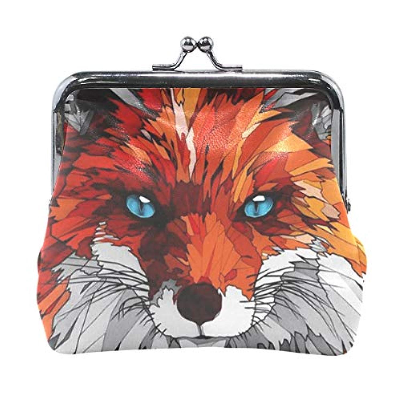 がま口 小銭入れ 財布 赤狐 コインケース レザー製 丸形 軽量 人気 おしゃれ プレゼント ギフト 雑貨