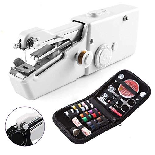 Licbox ハンドミシン ミニ電動ミシン ハンディミシン コンパクトミシン 初心者に適応 片手で縫える 乾電池式 手持ち 裁縫道具 操作簡単 縫い物 裁縫セットおまけ付き