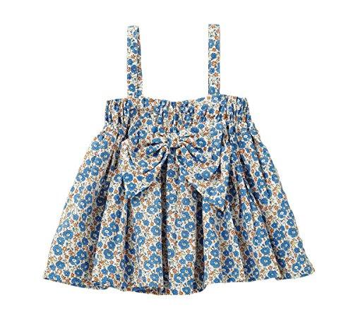 28903ef35ca6b cote cotte(コトコット) ベビー 2WAY スカート   キャミソール 赤ちゃん ベビー服 女の子 90㎝ ブルー花柄 50498317  スカートやキャミソールとしても着まわせる2WAY ...