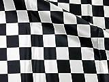 ホームクラフト PRICOLOUR サテン生地 市松プリント 約 110cm幅×50cm Col.10 ブラック×ホワイト BHS1004