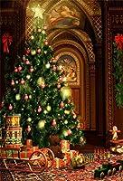 Qinunipoto クリスマス 写真撮影用 背景布 冬 布 撮影用 背景 バックペーパー クリスマスツリーとプレゼント 子供撮影 布バック 背景シート 背景紙 背景ポスター 写真館 撮影 小道具 自宅用 ビニール製 1x1.5m