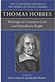 Thomas Hobbes: A Dialogue Between A Philosopher And A Student, Of The Common Laws Of England (Clarendon Edition Of The Works O..