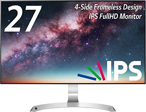 LG モニター ディスプレイ 27MP89HM-S 27インチ/フルHD/IPS非光沢/4辺フレームレス/HDMI×2・D-Sub×1/スピーカー/ブルーライト低減