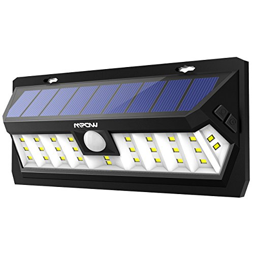 Mpow 30 LED ソーラーライト 点灯時間調整可能 センサーライト 防犯ライト壁掛け式 屋外ライト 玄関ライト 広角照明 太陽発電 省エネ 電気代ゼロ 屋外照明/軒先/ガレージ/庭先/玄関周りなどの照明用 夜間自動点灯