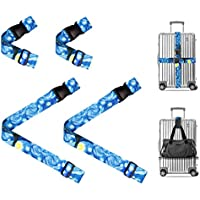 Luggage Strap & Add A Bag Strap for Suitcases Heavy Duty TSA Compliant 4-PC Set