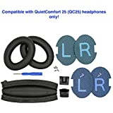 Replacement Ear Pads and Headband Cushion pad for Bose QuietComfort 25 (QC25) Headphones (PU Leather, Black) This Headband is