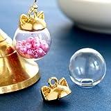 GreenOcean ガラスドーム ネコ耳キャップ ガラスドーム14mm付き きれいめゴールド