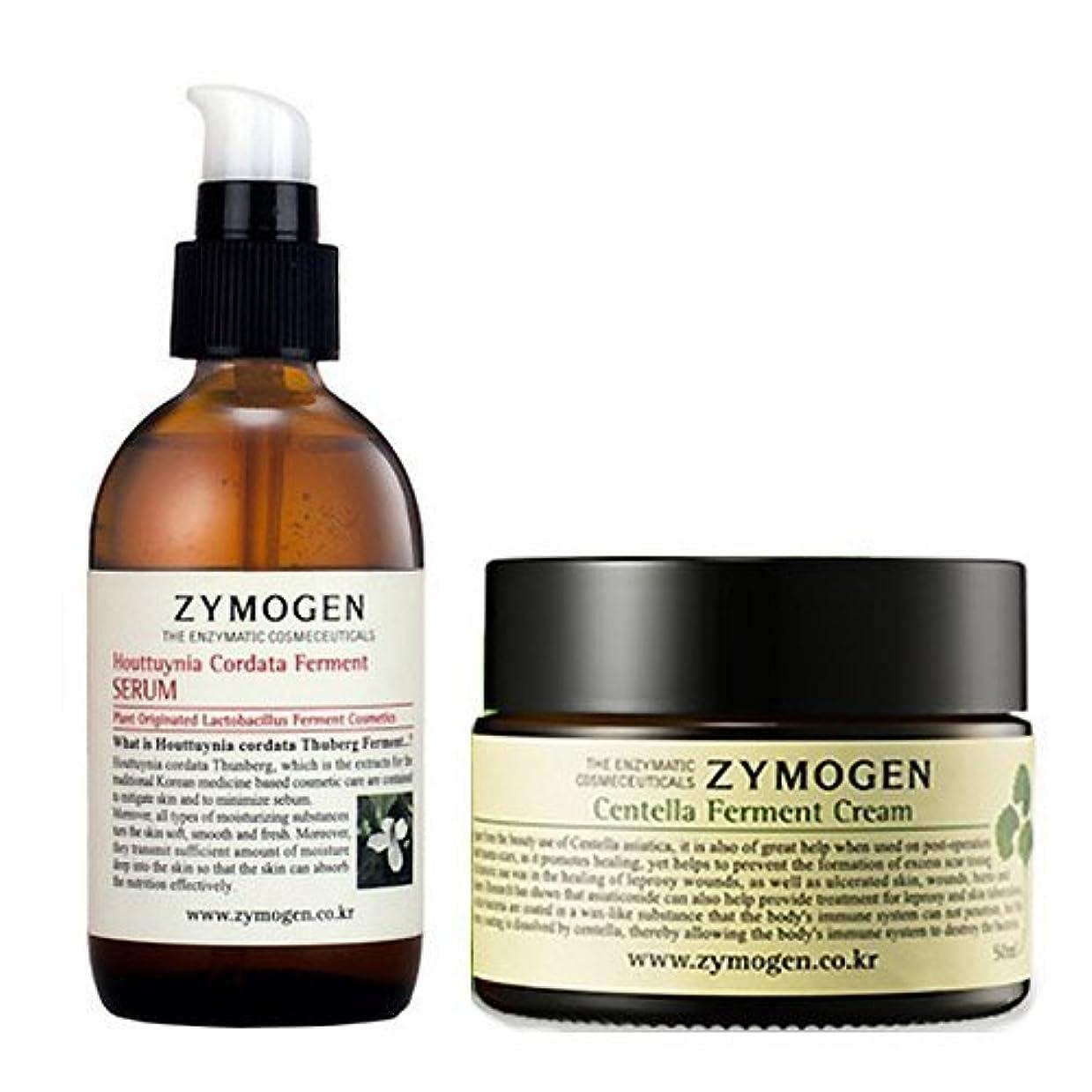 緑掻く宇宙飛行士ザイモゲン(ZYMOGEN) 発酵 2種セット [海外直送品][並行輸入品] ZYMOGEN Centella Ferment Cream 50g+ Ferment Houttunia Cordata Extract Serum...