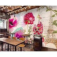 Wuyyii カスタム壁紙パリタワーフラワーウォールエステティックアートノルディックミニマリストテレビの背景壁の装飾3Dの壁紙 - 150X120Cm