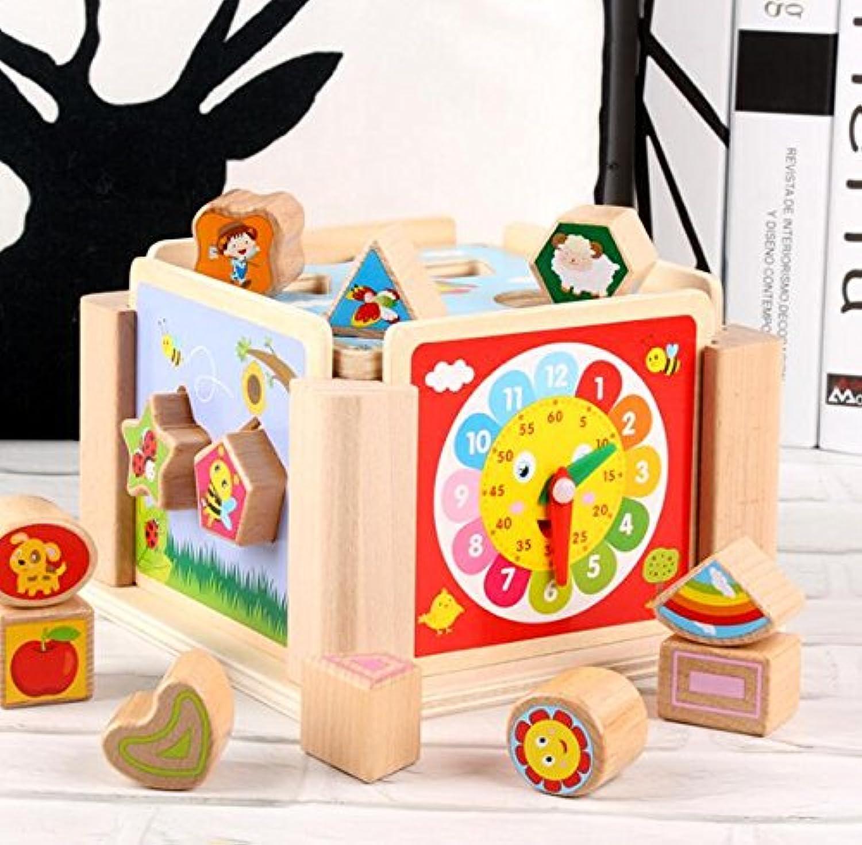HuaQingPiJu-JP 子供のためのかわいい木の形のソーター幾何学的なソートボックス教育形状色認識玩具