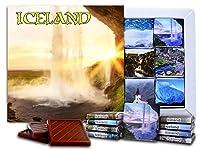 """DA CHOCOLATE キャンディ スーベニア """"アイスランド""""ICELAND チョコレートセット 5×5一箱 (Waterfall)"""