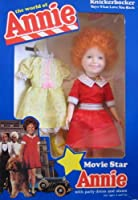 The World of Annie Movie Star ANNIE Doll w Party Dress & Shoes - Little Orphan Annie (1982 Knickerbocker) by Unknown [Floral] [並行輸入品]