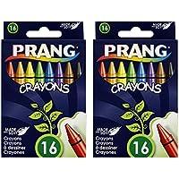 Prangクレヨン、標準サイズ 2 Packs of 16 DIX00100-2PACKS