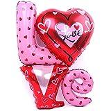 パーティーパーク LOVE アルミバルーン 特大サイズ 飾り付け 誕生日 お祝い 二次会 結婚式 パーティー デコレーション サイズ約90㎝×78㎝