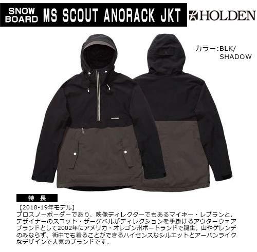 ホールデン HOLDEN メンズ ボードウェア ジャケット (品名) MS SCOUT ANORACK JKT (カラー) BLK/SHADOW BLK...