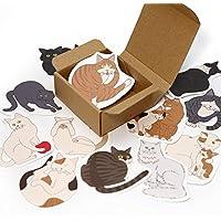 寄せ書き よせねこ カード 12枚 ボックス 1箱 シール 付き 猫