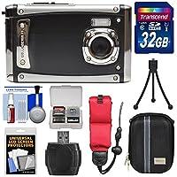 Bell & Howell splash3wp20HD衝撃&防水デジタルカメラ(ブラック)と32GBカード+ケース+フロートストラップ+三脚キット