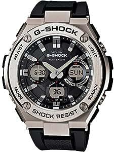 G-SHOCK CASIO メンズ 腕時計 電波ソーラー G-STEEL アナデジ GST-W110-1ADR ブラック×シルバー [逆輸入品]