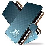 【KEIO】VAIO Phone A VPA0511S 手帳型 ケース カバー チャリンコ じてんしゃ vpa 0511sケース vpa 0511sカバー バイオフォン 手帳型ケース 手帳型カバー サイクリング [自転車 チャリ 青白/t0568]
