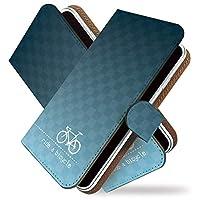 【KEIO】ZenFone5Q 手帳型 ケース カバー チャリンコ じてんしゃ zonfone 5qケース zonfone 5qカバー ゼンフォン5q ゼンフォーン5q 手帳型ケース 手帳型カバー サイクリング [自転車 チャリ 青白/t0653]
