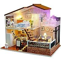 Magic House(マジック ハウス)Full of Shine 子犬 多色に光るLED ピアノ ミニチュア オルゴール付属 防塵ケース付属 手作りキットセット