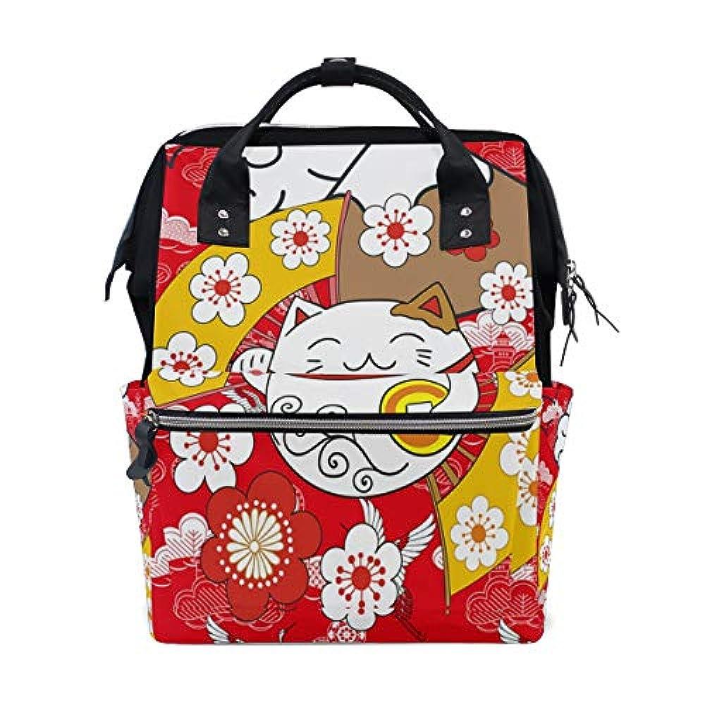その他オールマウントCarrozza リュックサック 学生 リュック レディース 猫 猫柄 招き猫 鶴 花柄 桜 赤 和風 マザーズバッグ ビジネスリュック デイバッグ メンズ 大容量 がま口 かわいい おしゃれ 通勤通学