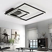 LightInTheBox Remoter減光LED天井ライト70ワットフラッシュマウント天井照明器具アルミニウムブラックシャンデリアペイント仕上げfor Living Room Foyer ホワイト S513402800005#S=3