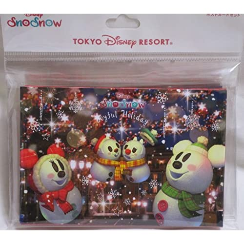 ポストカードセット ディズニー クリスマス 2017 スノースノー 雪だるま 7枚(7絵柄)フォトフレーム ミッキー 東京ディズニーリゾート限定 TDR