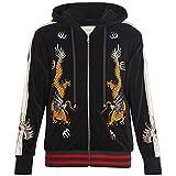 (グッチ) Gucci メンズ トップス パーカー Dragon-embroidered hooded velvet sweatshirt [並行輸入品]