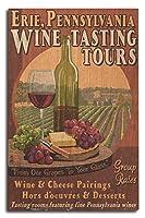 エリー、ペンシルベニア州–Wine Tasting Vintage Sign 10 x 15 Wood Sign LANT-40580-10x15W