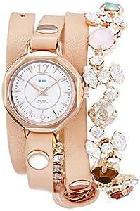 [ラ・メール コレクションズ]LA MER COLLECTIONS 腕時計 SLATE BERLIN CRYSTAL ホワイト文字盤 ラム革ベルト LMDELCRY1505 レディース 【正規輸入品】