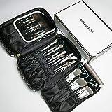 ROWNYEON Makeup Bag Makeup Brush Bag Makeup Brush Holder Bag Makeup Travel Bag Organizer Portable Makeup Artist Case Multi function Handbag (Pattern)