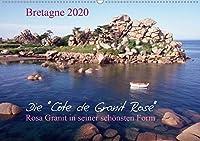 Bretagne, die Côte de Granit Rose, rosa Granit in seiner schoensten Form.CH-Version  (Wandkalender 2020 DIN A2 quer): Die Côte de Granit Rose hat viele Kuenstler zu ihren Bildern und Skulpturen inspiriert. (Monatskalender, 14 Seiten )