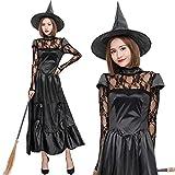 【 本格的 】monoii 魔女 コスプレ ハロウィン ウィッチ コスチューム ロング 衣装 仮装 c588