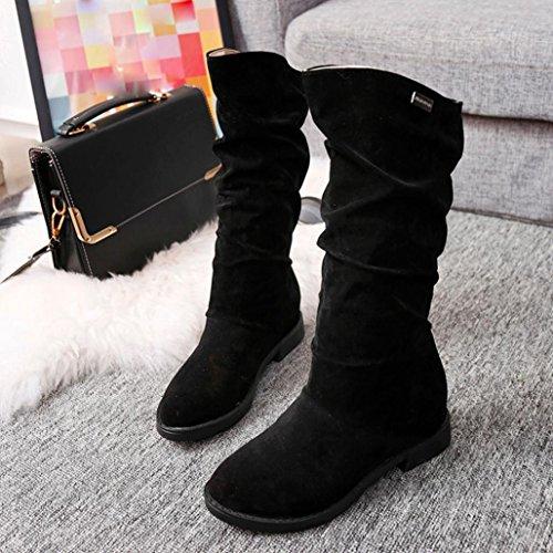 ツガ冬ブーツ女性、女性用ティーンフラット...