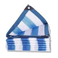 CHAOXIANG オーニング シェード遮光ネッ 暗号化 サンバイザー 日焼け止め 通気性 青と白、 マルチサイズ、 カスタマイズ可能 (Color : A, Size : 4x5m)