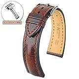 [HIRSCH]ヒルシュ 腕時計 革 ベルト ルッカ×Dバックルセット 3.ブラック 22mm 尾錠色:シルバー Dバックル色:シルバー (¥ 20,520)