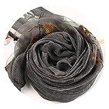 刺繍ファッション綿とリネンスカーフシルクスカーフシルク刺繍日焼け止めショールスカーフ女性の,インク,180
