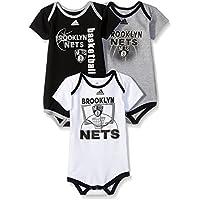 Outerstuff Boys NBA Infant Golden State Warriors 3 Point Bodysuit Set R N8 221J4 WA, Boys, NBA Infant Brooklyn Nets 3 Point Bodysuit Set, R N8 221J4 NE, Black, 24 Months