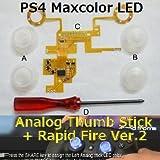 PS4コントローラーボタンが光る! 連射が出来る! そんな改造キット 第2弾!! PS4 Maxcolor LED Analog Thumb Stick + Rapid Fire Ver.2 / アナログパッドLED化&連射キット Dianziオリジナルバージョン[CXD0973] [並行輸入品]
