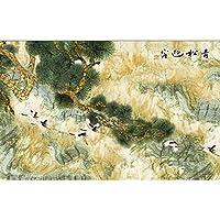 Ljjlm 3D部屋の壁紙カスタム壁画フォトパインズ大理石柄絵画画像3D壁不織布壁画壁紙用壁-200X140CM