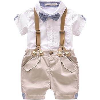 b9e47cb0326f1 HMT  エイチエムティー ベビー服紳士風ベビーサスペンダーショーツリボンタイ紳士スーツ ボーイズ 半袖